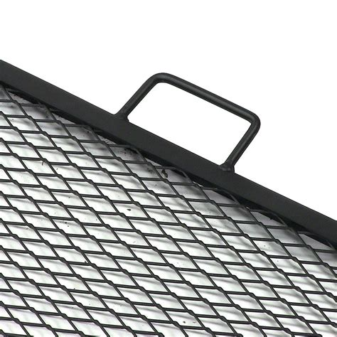 pit grate square x marks square pit cooking grill durable steel grate
