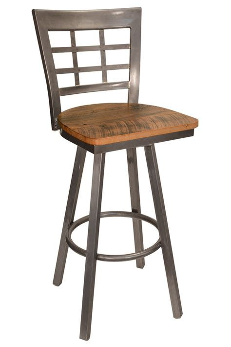 Stool Wood And Metal by Wood And Metal Swivel Bar Stools Ggregorio