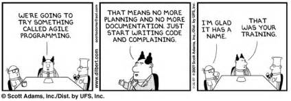 quot dilbert quot on extreme and agile programming global nerdy