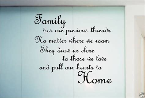 family poem quote sticker wall art bedroom kitchen family poems family tree quotes family quotes