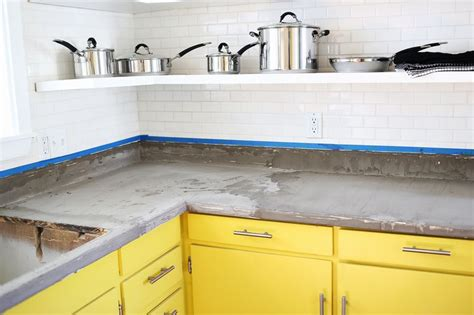Best Backsplash For Kitchen by Concrete Countertop Diy A Beautiful Mess