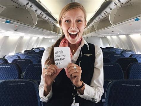 airline stewardess flashing this friendly flight attendant does something special for