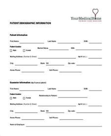 template for patient information sheet patient demographic form template sle patient