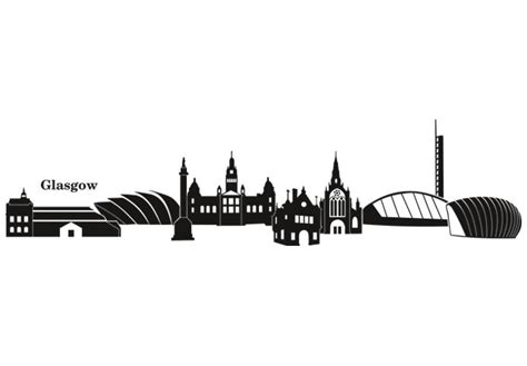 glasgow skyline wall sticker wall art com