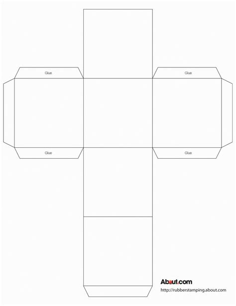 cube box template no 04 free box templates store cube box template for rubber sting