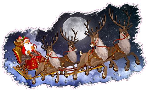 christmas and holiday wall d 233 cor decal santa claus with