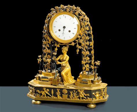 orologi da tavolo antichi orologio da tavolo in bronzo dorato l grognot a