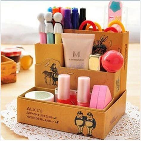 diy stationery paper board tale storage box desk stationery cosmetic makeup diy organizer ebay