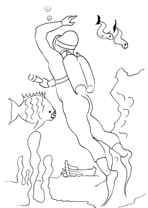 Printable Scuba Diver Coloring Pages by Free Printable Coloring Pages Of Scuba Divers Free Best