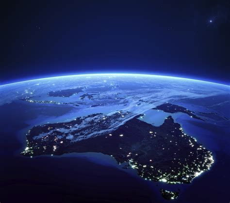 australian lights australia with city lights from space at australia