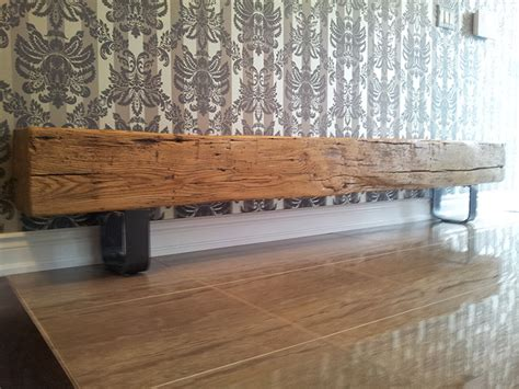 wood beam bench white oak barn beam hallway bench rebarn toronto