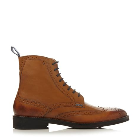 brogue boots for oliver sweeney airton lace up brogue boots in brown for