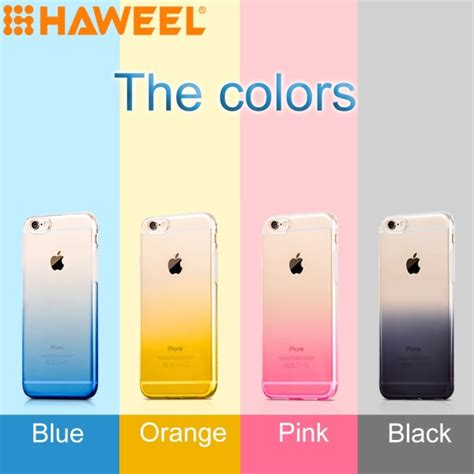 Iphone 6 Plus Softcase Ultra Thin Clear Orange 676f4n haweel ultra slim gradient color clear soft tpu for iphone 6 plus 6s plus pink alex nld