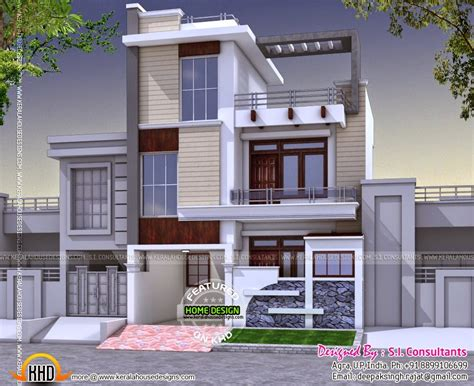 Indian Modern House Plans Modern 3 Bedroom House In India Kerala Home Design And Floor Plans