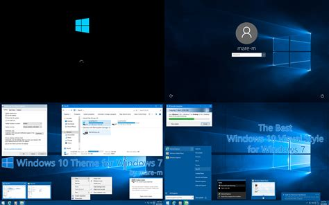 themes for windows 10 mobile windows 10 theme for windows 7 by mare m on deviantart