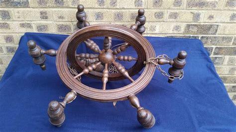 Ship Wheel Chandelier Vintage Wooden Ship S Wheel Chandelier Catawiki