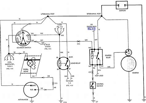 i need help with the wire color codes for starter relay 0n