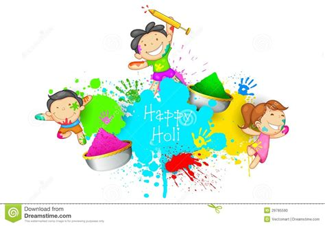 clipart bimbi holi stock vector illustration of child