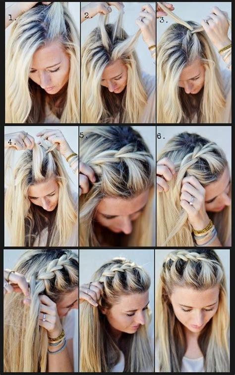 cool braiding step by step step by step braid pretty hairstyles pinterest