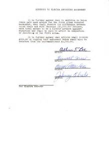 signed agreement template signed contract ammendment for 1st album