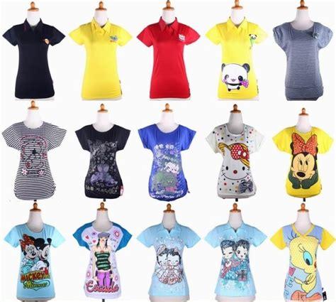 Baju Cewek Grosir Murah Kaos Lucky Blouse Wanita Spandek Soft Fit grosir kaos cewek murah baju3500