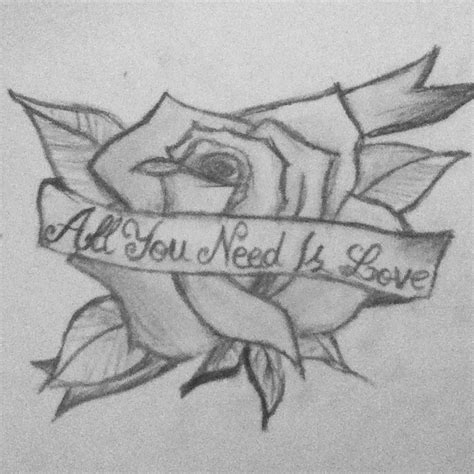 all you need is love tattoo design all you need is by aliceisalegend on deviantart