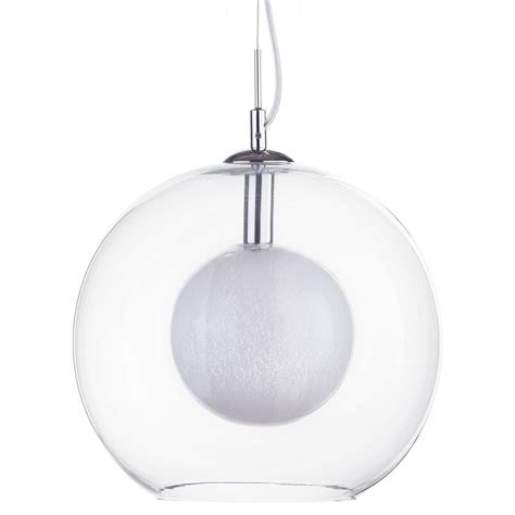 clear glass pendant light shade 1 light orbital ceiling pendant with crackle shade inside