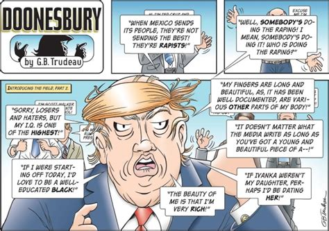 yuge 30 years of doonesbury on doonesbury cartoonist on why he s to s