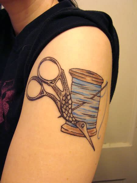 sewing tattoo by kitmcsmash on deviantart