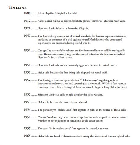 autobiography timeline template timeline exles