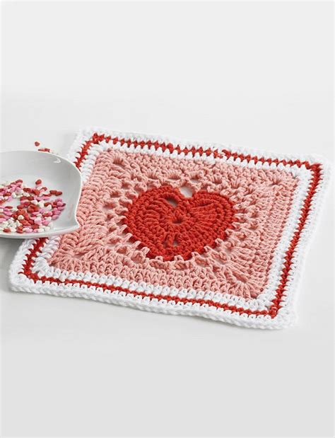 crochet pattern heart dishcloth free pattern beautiful heart motif dishcloth knit and