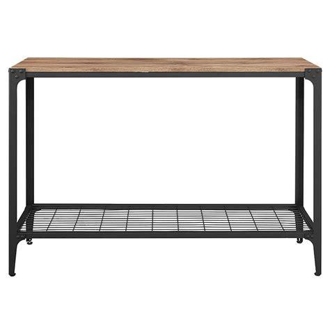 home depot console table walker edison furniture company angle iron barnwood