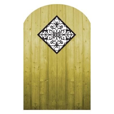 decorative garden gates home depot proguard treated wood gate with decorative insert home
