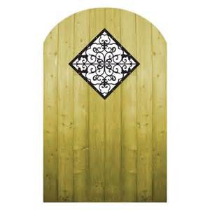 proguard treated wood gate with decorative insert home depot canada ottawa