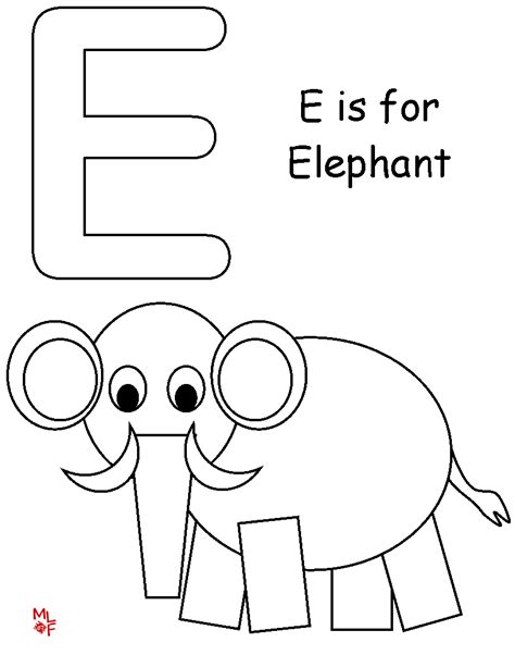elephant template for preschool preschool letter e coloring pages coloring pages