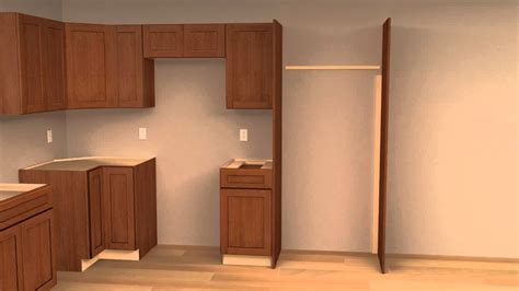 kitchen cabinets refrigerator panels 4 cliqstudios kitchen cabinet installation guide chapter
