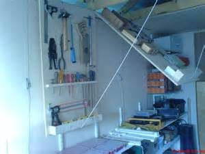 custom diy wood folding garage ceiling storage shelves for