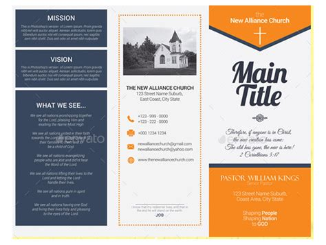free church brochure templates 10 popular church brochure templates design free psd