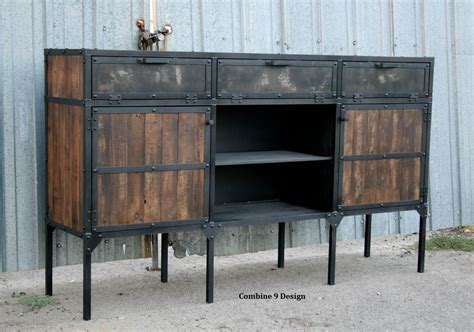 Buy A Hand Crafted Urban Buffet Hutch Vintage Industrial Vintage Buffet Hutch