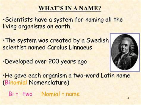 by carolus linnaeus classification classification system