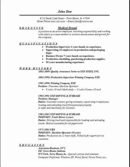 Dental Resume Template by Dentist Resume