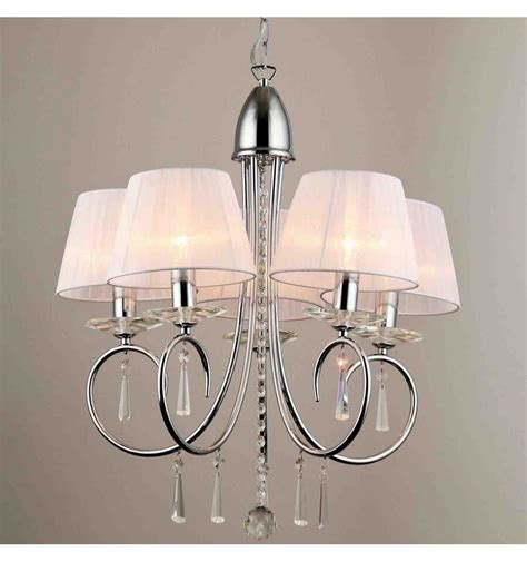 Lustre Suspension Design by Lustre Baroque 5 Bras Cristal Et Chrome