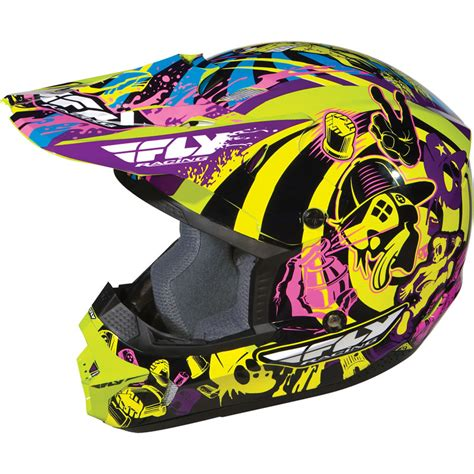 fly racing motocross helmets fly racing kinetic graphiti junior kids youth childrens mx