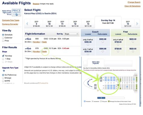 how to check airline seat availability class on a budget hawaii to seattle