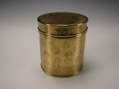 Brass Jar L by Antique Japanese Or Indian Solid Brass Jar Box