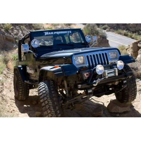 jeep wrangler yj front bumper jeep wrangler yj stubby front bumper rock series fits