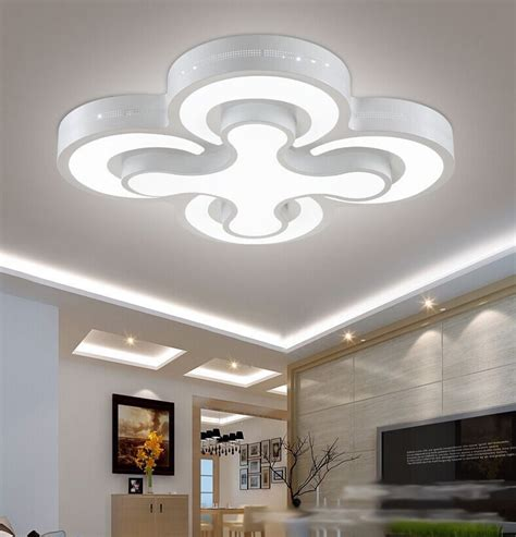 Kitchen Led Ceiling Lights Aliexpress Buy Modern Led Ceiling Lights 48w Bedroom Ls 4heads For Livingroom Kitchen