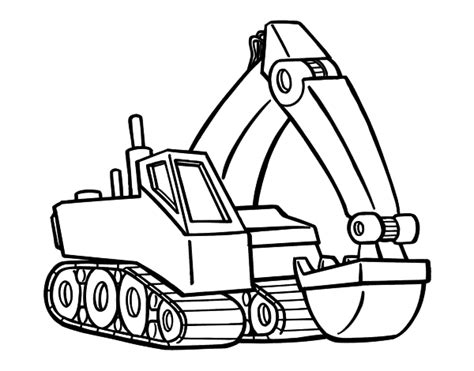 excavator coloring page printable free excavators coloring pages