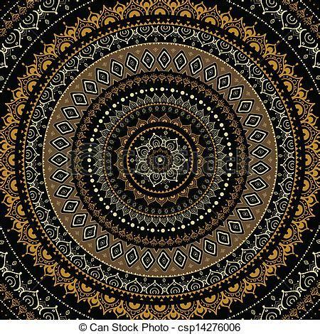 Muster Indisch by Vektor Clipart Dekorativ Mandala Indische Muster