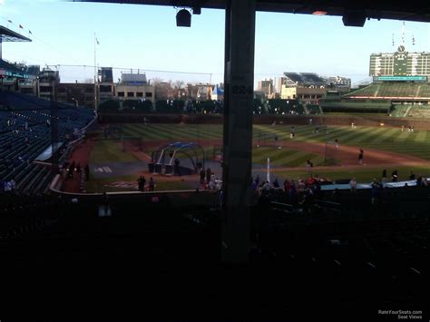 wrigley field view from seats wrigley field section 224 chicago cubs rateyourseats